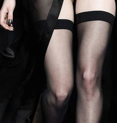 By John Richmond Fall 2015 Marla Singer, Bas Sexy, Yennefer Of Vengerberg, Sexy Stockings, Sexy Legs, Pin Up, Lingerie, Black And White, Boudoir
