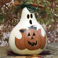 A gourd that I painted for Create & Decorate