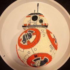 Birthday Cake - Star Wars Cake - Ideas of Star Wars Cake - Birthday Cake 8th Birthday Cake, Star Wars Birthday, Star Wars Party, Birthday Parties, Birthday Ideas, Star Wars Cake Toppers, Star Wars Cupcakes, Buddy Holiday, Bb8 Cake