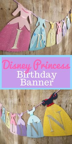 Pastel Princess Banner/Princess Dress Banner/Disney Princesses/Disney Princess banner/Princess Birthday/Princess party #affiliate | Princess Holiday Party | Princess Slumber Party | How To Become A Princess For Parties | Princess Party Ideas.  #nightmareprincess #Party banners