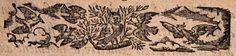 Gravure d'un hiboux et oiseaux/ Engraving birds and owl
