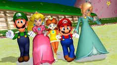 Mario and his friends MMD