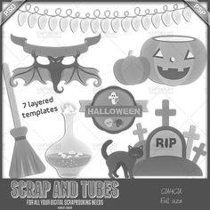Halloween Templates CU4CU by Scrap and Tubes,cu, clipart, scrap, scrapbooking, graphics,