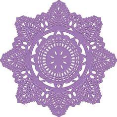Prima Marketing Purple Metal Die Crochet Doily