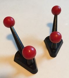 Vintage Retro Pop Mod Sputnik Small Plastic Hooks Great For Kitchen X2 EAMES Era  | eBay