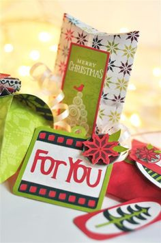 Christmas Gifts with the Cricut® Holiday Frames & Tags Cartridge from Creative Memories