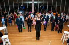 The #LethalRhythmsDancers leading a group dance. So much fun! #LethalRhythms #AtlantaDJ #AtlantaEvents #BarMitzvah #AtlantaMitzvah #HighMuseum @Graceology