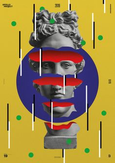 For the January 2019 I cut Apollo's head, explore primary colors with simple geometric shapes and play with noisy backgrounds. Vaporwave Art, Pop Art Wallpaper, Speed Art, Pop Art Posters, Hippie Art, Creative Posters, Arte Pop, Oui Oui, Graphic Design Illustration