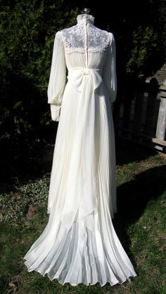 Reserved For Singkai Vintage 1970s Wedding By Thevintagedomain Dress Bridal
