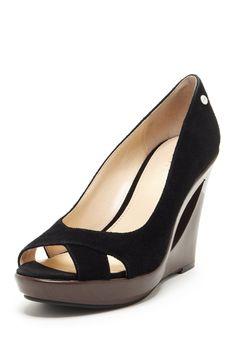 Calvin Klein Roze Peep Toe Wedge