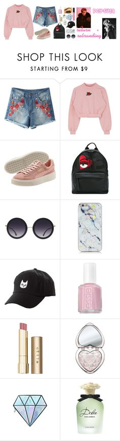 """PCY-SUGA [i'm back!!]"" by pcy-suga ❤ liked on Polyvore featuring Chiara Ferragni, Alice + Olivia, Charlotte Russe, Essie, Stila, Too Faced Cosmetics, Unicorn Lashes, Dolce&Gabbana and Armani Beauty"