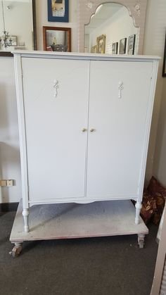 vintage wardrobe, armoire, closet, custom painted furniture, shabby chic, cottage, country, rustic farmhouse