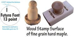 example of wood clay stamp