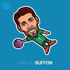 Gigi Buffon #buffon #gigi #gianluigi #football #cartoon #comic #italy #calcio #juventus #turin #vector #illustration #art #tommillerart #tommillerdesign