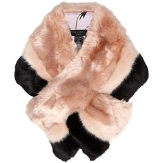 Ted Baker Triple Stripe Faux Fur Scarf, Pale Pink/Black ($140) ❤ liked on Polyvore featuring accessories, scarves, wrap shawl, faux-fur scarves, striped scarves, faux fur shawl and ted baker