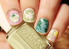 Earth Day Nails inspired by #LillyPulitzer using #Essie