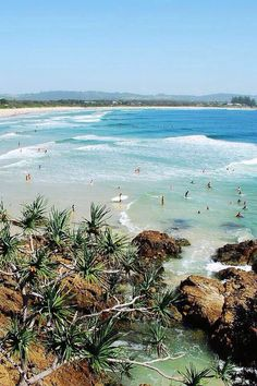 Beautiful Day at the beach at Byron Bay, Australia