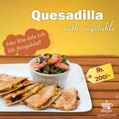 No wonder, why #Monday seems beautiful. Try delicious 'Quesadilla with Vegetable' kyuki isko kha dala toh life jhingalala!!   #JailKaKhana #Italianfoodinjaipur #Mexicanfoodinjaipur #CKPHomeDelivery #Quesadilla