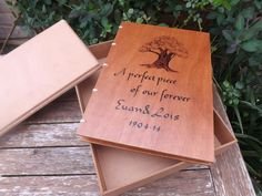 A4 wooden hand bound guest book, commissioned