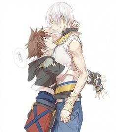 "Aww~ the ""bromance"" is killing me here. (Kingdom Hearts)"