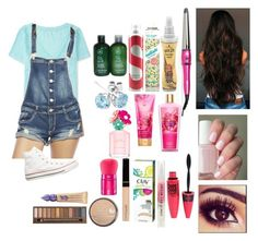 """""""You're my flashlight ~Abbethy~"""" by abbethya ❤ liked on Polyvore featuring Maybelline, Aéropostale, Stila, Wet Seal, Rimmel, Urban Decay, Converse, DIVA, Got2b and Batiste"""