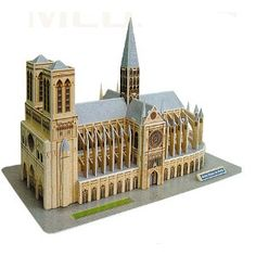 Notre Dame de Paris is widely considered one of the finest examples of French Gothic architecture. This cardboard model is fun and simple for all ages to build. French Gothic Architecture, Cardboard Model, Gifted Education, Puzzles, Bookends, Photos, Building, Gift Ideas, Recherche Google