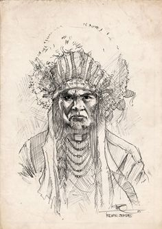 Indian stare by Marko Pudar on ArtStation. Indian, Artwork, Art Work, Work Of Art, Auguste Rodin Artwork, Indian People
