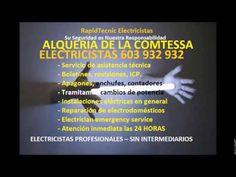 Electricistas ALQUERIA DE LA COMTESSA 603 932 932 Baratos