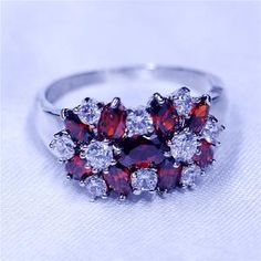 choucong Women 925 sterling Silver ring Purple stone AAA Cubic Zirconia Engagement Wedding Band Rings For Women Flower Jewelry Buying An Engagement Ring, Silver Engagement Rings, Silver Necklaces, Silver Jewelry, Diamond Jewelry, Silver Earrings, Simple Jewelry, Wedding Ring Bands, Sterling Silver Rings