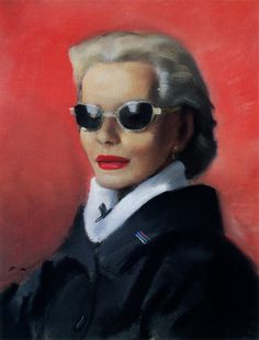 Fleur Cowles as she was painted by London's Francis Marshall in 1955.