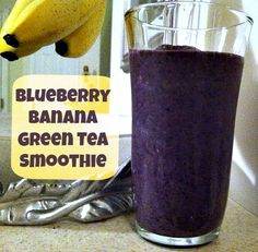 Green tea supports your immune system, so I like to blend it into my morning smoothie! I added bananas and frozen blueberries to make it creamy and antioxidant-rich!  This traditional Asian beverage is chock full of antioxidants to both prevent and fight