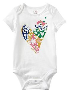 Diane von Furstenberg ♥ babyGap graphic bodysuit | I know a particular baby who can probably expect this for her birthday... if not sooner.