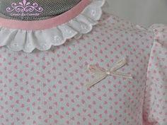 """@comodecuento #JuntosPodemos Preciosas Puntillas y corazones para una Blusa """"Como de Cuento"""""""