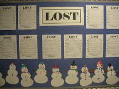Lost-Students describe their snowman so that it can be uniquely identified