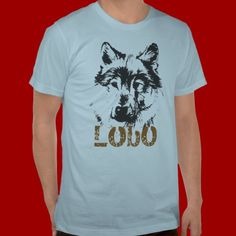 Shop Lobo T-Shirt created by Personalize it with photos & text or purchase as is! Tattoo T Shirts, American Apparel, Fitness Models, Tees, Mens Tops, How To Wear, Shopping, Fashion, Wolves