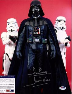 DAVE PROWSE Signed 11X14 Photo PSA/DNA #AC34631 STAR WARS DARTH VADER