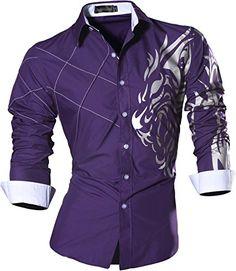 jeansian Men's Slim Lion Tattoo Print Long Sleeves Dress ... https://www.amazon.com/dp/B01N1G02ZW/ref=cm_sw_r_pi_dp_x_UVulybFF6MK4W