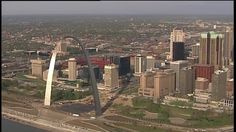 Downtown #STL from SkyFOX helicopter. #STLouis #STLouisGram