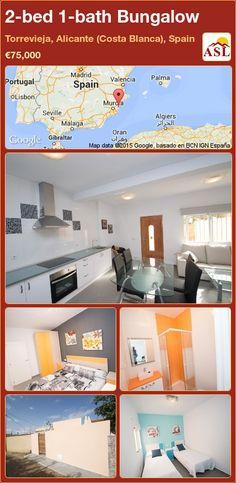 Bungalow for Sale in Torrevieja, Alicante (Costa Blanca), Spain with 2 bedrooms, 1 bathroom - A Spanish Life Bungalows For Sale, Spanish House, Alicante, Seville, Malaga, Valencia, Costa, Madrid, Spain