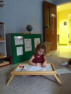 "great idea - bed trays as ""desks"" (North Carolina, USA)"