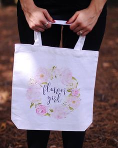 Flower Girl Tote Bag Gift, Bridal Party Gifts
