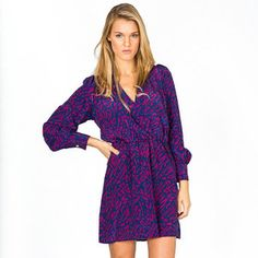 Suzy Dress Purple Abstract, $69, now featured on Fab.