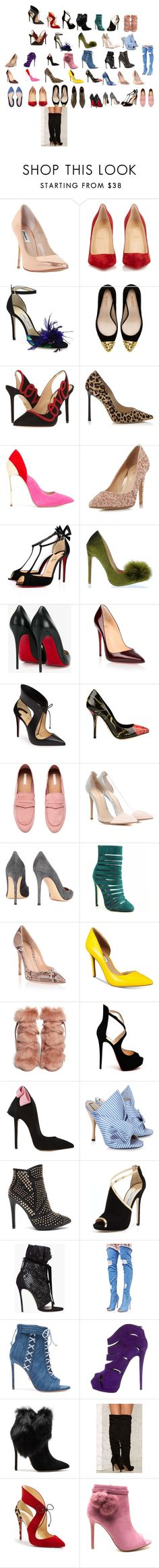 """""""MY FAVORITE SHOE"""" by anelson007 on Polyvore featuring Dune, Christian Louboutin, Jimmy Choo, Zara, Charlotte Olympia, Casadei, Head Over Heels by Dune, Dolce&Gabbana, Gianvito Rossi and INC International Concepts"""
