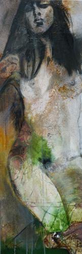 """tattoo"", Acrylcollage,  Monika Stoffel            -sold-"