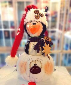 Bazaar Ideas, Christmas Crafts, Christmas Ornaments, Gourds, Snowmen, Santa, Teddy Bear, Halloween, Holiday Decor