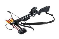 Jaguar Series Crossbow Kit, Hunting crossbow designed with accuracy, safety, and durability in draw; fires crossbow arrows at speeds of 245 FPS (feet per second)Slott… Crossbow Targets, Diy Crossbow, Crossbow Arrows, Crossbow Hunting, Hunting Gear, Deer Hunting, Survival Weapons, Survival Gear, Tactical Survival
