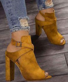 Bottes Femme Mi Talon bottier haut massif Casual Chelsea Cheville Bottes Chaussures Taille