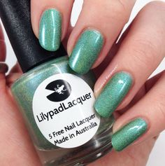 Lilypad Lacquer Green Opal Glow nnr