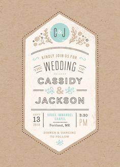 Cartwright Wedding Invitation by Jennifer Wick | www.minted.com