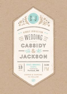 Cartwright Wedding Invitation by Jennifer Wick | www.minted.com